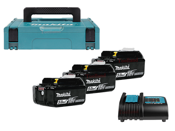 Makita Power-kit  BL1850B 5,0Ah (3x) + DC18RC in M-Box1 197624-2