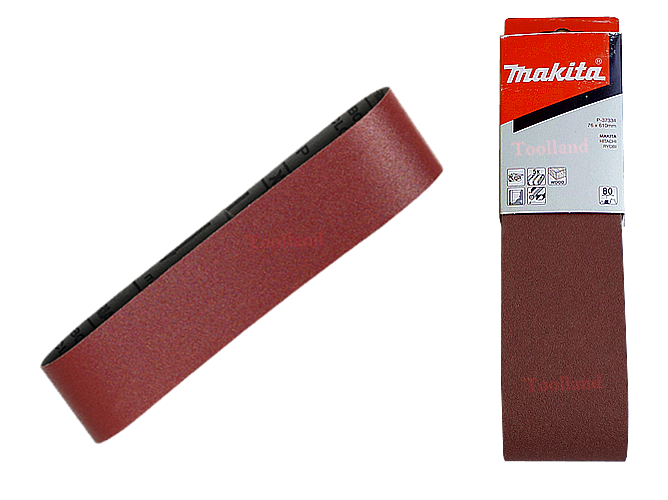 Schuurbanden RED 76 x 610 mm makita P-37312 P-37328 P-37334 P-37340 P-37356 P-37362 P-37378